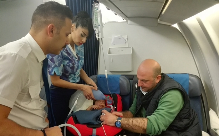 Live from MEA flight, Banin Charity saves the life of Ahmad Osman