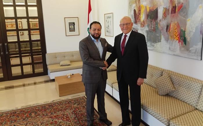 Visiting Former Prime Minister of Lebanon, Tammam Bek Salam
