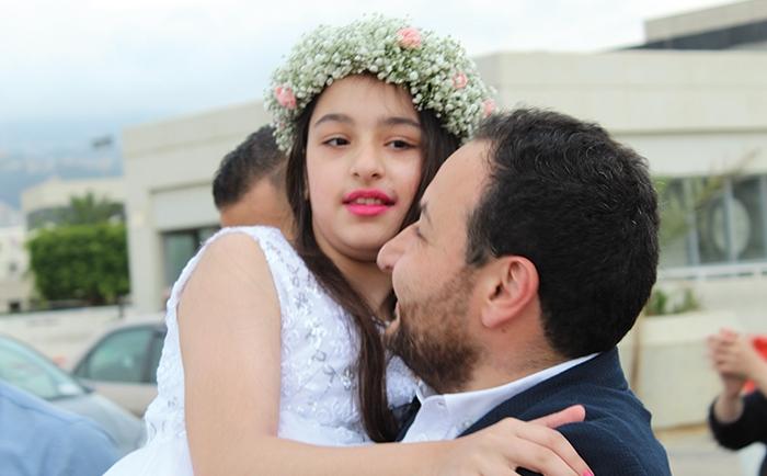 فاديا مصطفى - عادت ألى لبنان و ترتدي فستان الحلم