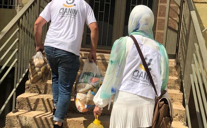 Distribution of aid in the Gaza region (West Bekaa)