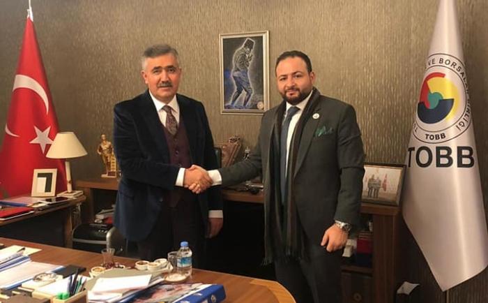 Ankara - Turkey President of Banin Met Deputy ERDOGAN OZEGEN and Chief Administrator of the Union of Chambers